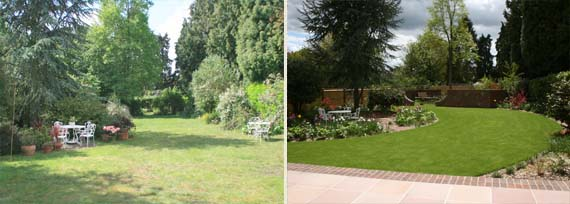 St.Albans large Traditional garden